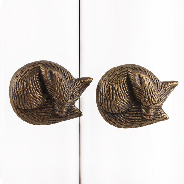 Antique Fox Metal Cabinet Knobs