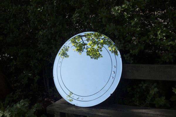Beautiful vintage Art Deco round mirror