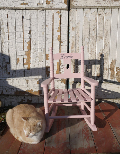 Child's vintage personalised rocking chair with your child's name - made to order