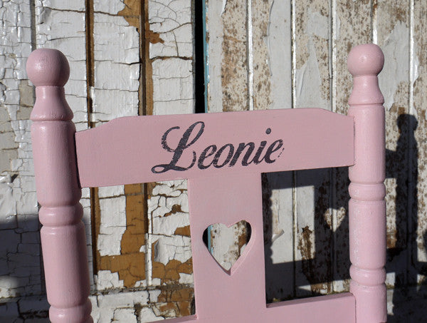 Child's vintage personalised rocking chair with your child's name made to order