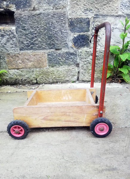 Children's vintage toy cart - can also be hand painted and personalised