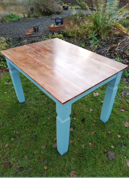 Chunky farmhouse dining table