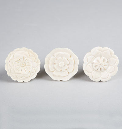Cup Flower Drawer Knob Assorted