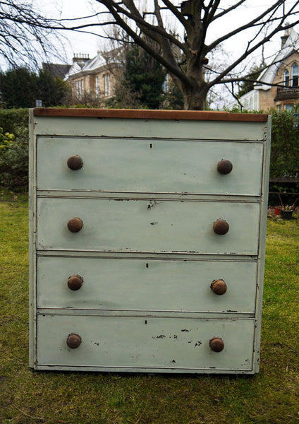 Custom listing for Emily hand painted vintage chest of drawers in Miss Mustard Seed Milk paint