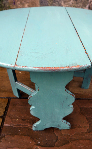 Cute little dropleaf coffee table painted in traditional milk paint Kitchen Scale