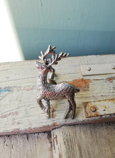 Deer Stag Bronze or Silver Drawer furniture Knobs
