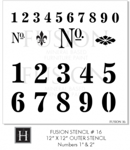 Fusion Mineral Paint Decorative Stencil - Vintage Numbers