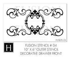 Fusion Mineral Paint Decorative Stencil Drawer Front number 2