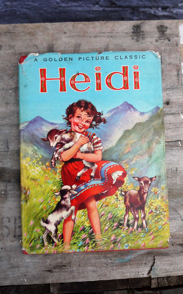 Gorgeous colourful 1956 copy of the children's classic Heidi.