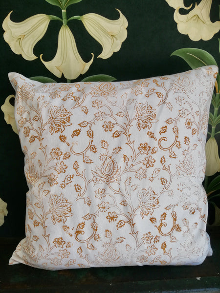 Hand printed cushion