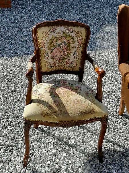 Vintage bedroom chair available for reupholstery and painting your choice of colour