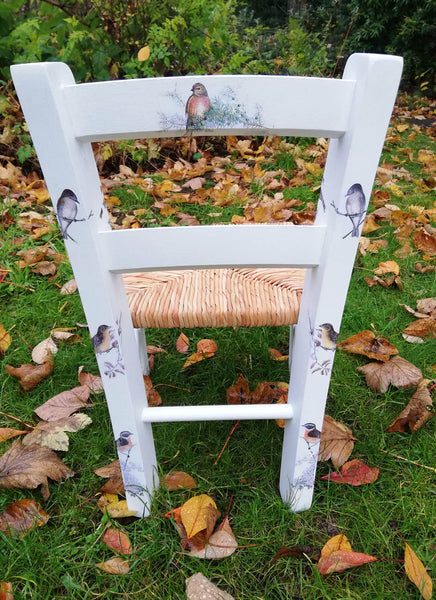 Custom Order for Sophie child's personalised rush seat chair