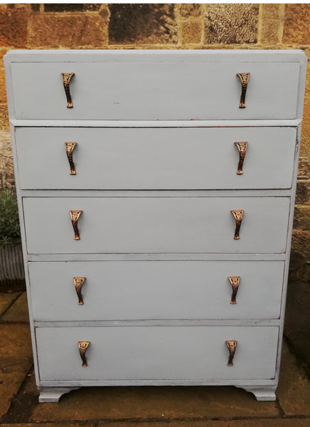 Custom listing for Caroline hand painted chest of drawers