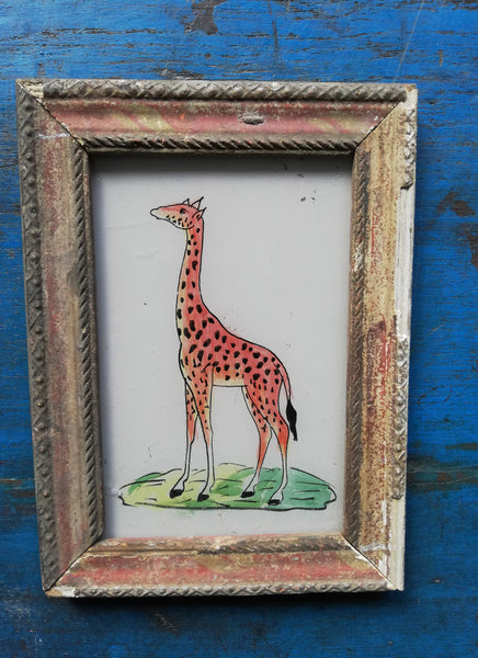 Vintage glass paintings