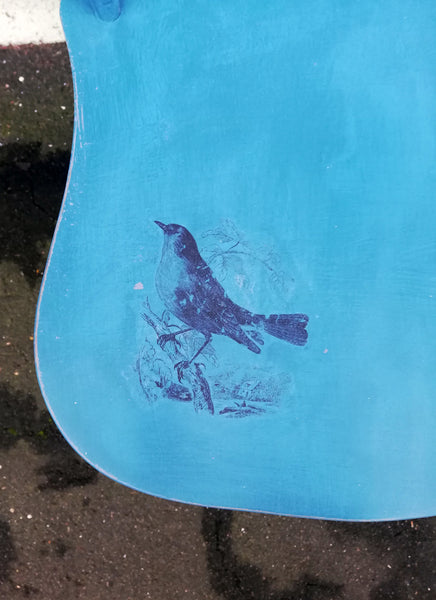 Custom Listing for Tom and Pete hand painted chair with Toile bird design