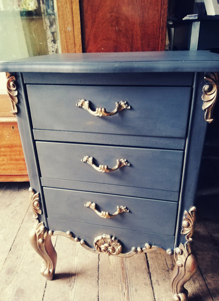 Custom Listing - Ornate French Style Bedside cabinet