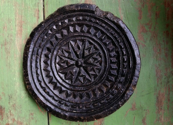 Antique stone chapati moulds. These make prefect trivets and pot stands