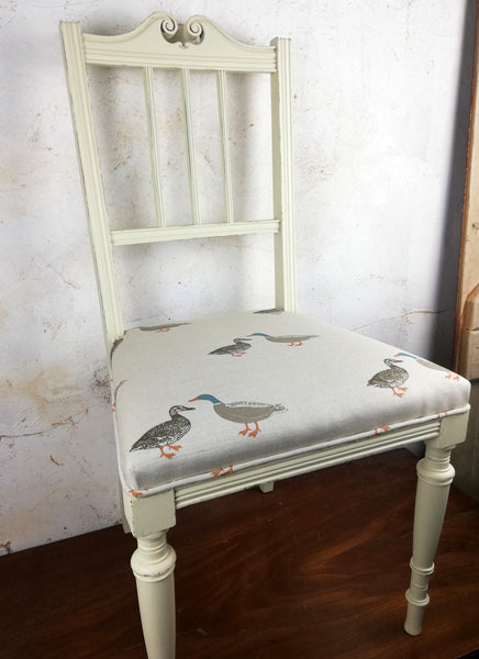 Custom Listing for Julieanne reupholstered and painted desk chair