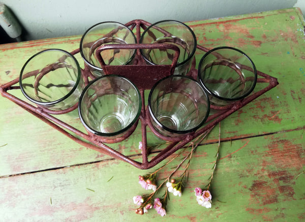 Antique glass carrier