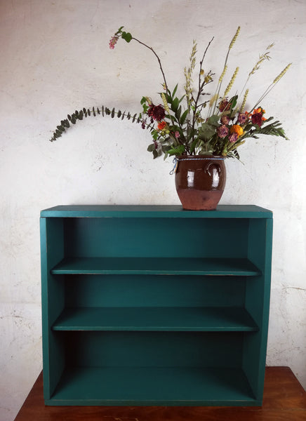 Custom order for Sarah Foster handpainted bookcase in Fusion Mineral Paint Renfrew Blue