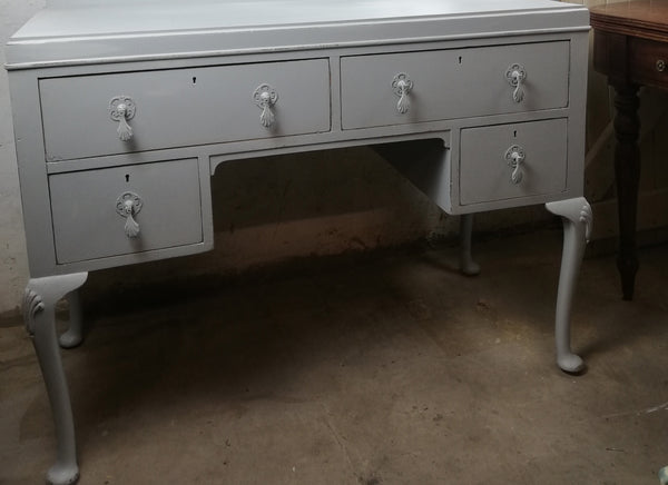 Custom Order for Victoria hand painted dressing table in Fusion Mineral Paint Pebble