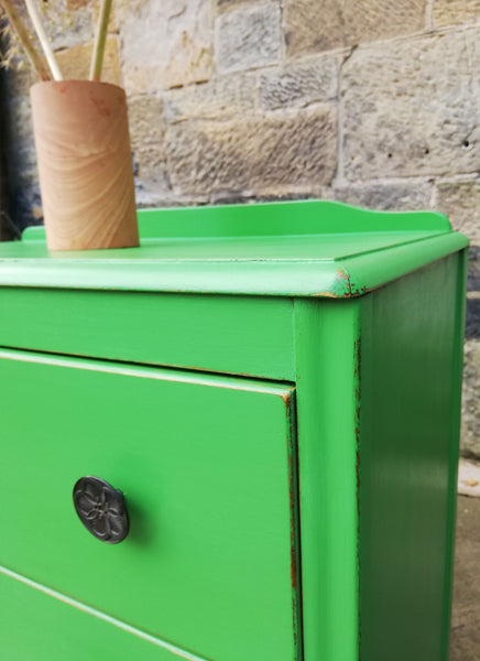 Custom Listing chest of drawers painted in Vintage With Grace Chalk Paint in Peter Pan