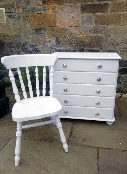 custom listing for lesley anne todd painted chair and chest of drawers