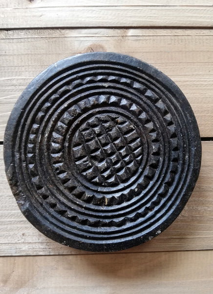 Antique stone chapati mould. These make prefect trivets and pot stands