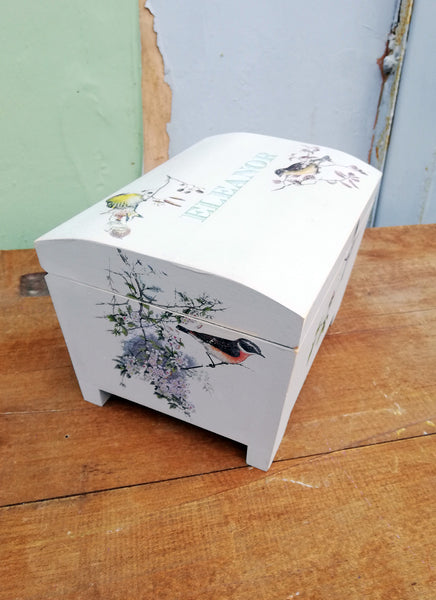 Custom listing for Jane Hunt personalised jewellery box