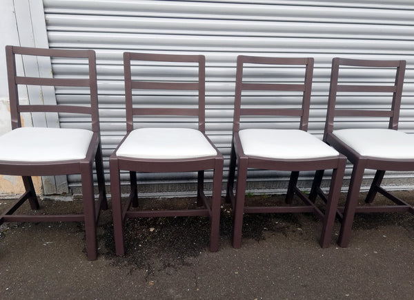 Set of 4 vintage dining chairs with vinyl seats