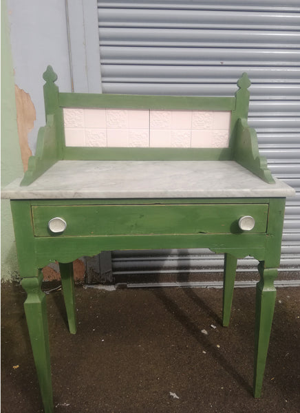 Custom Listing for Laura Buchan - hand painted vintage washstand