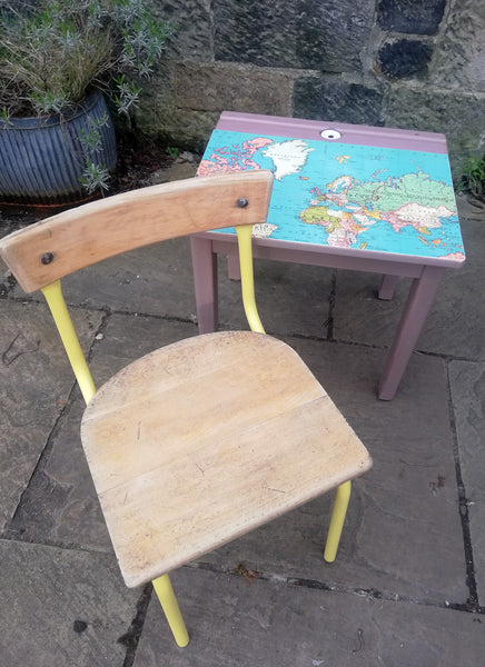 Painted vintage children's school desks, chairs or sets you choose design and colours