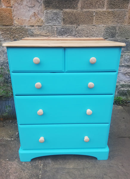 Custom order for Lesley Balharry - painted pine chest of drawers
