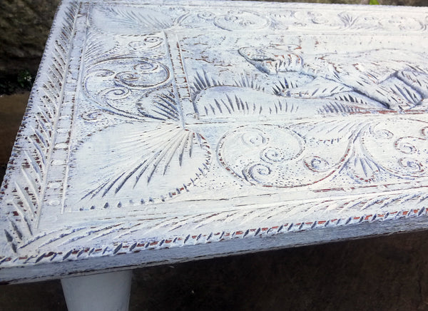 Little carved boho table