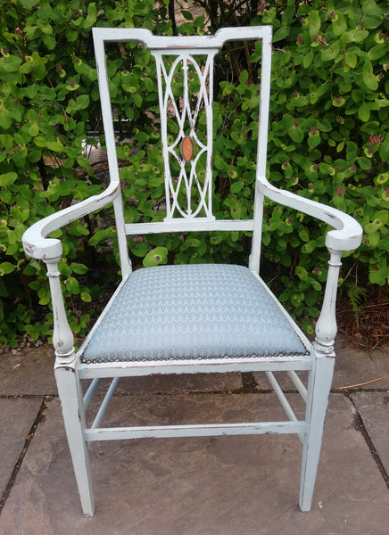 Reserved for Sandra - shabby chic reupholstered chair