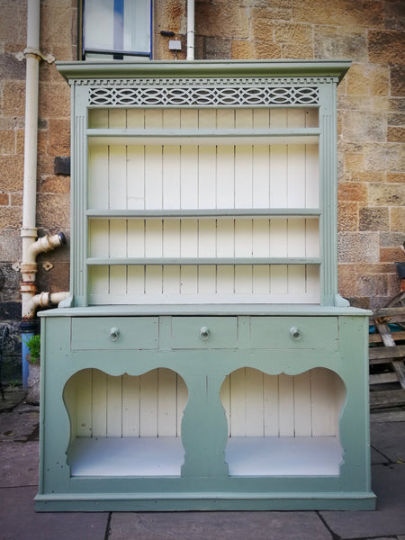 Commission for Sarah Stewart - Large old reclaimed pine vintage country kitchen dresser