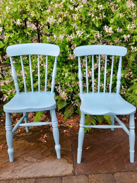 Custom order for Nicola 2 painted dining chairs