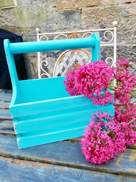 Wooden Bottle Carrier / table caddy painted to order