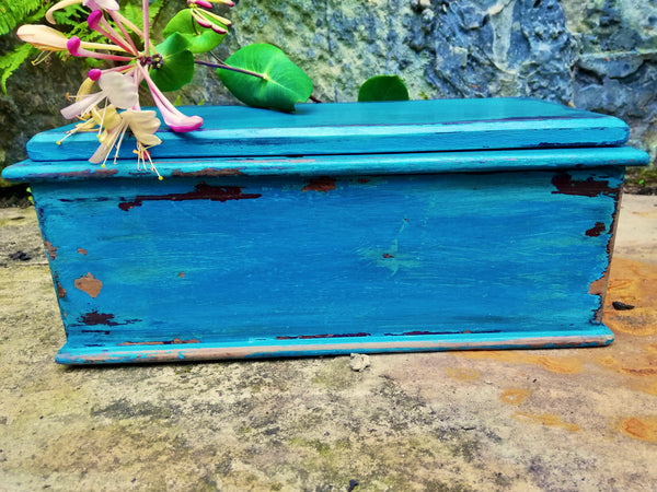Little painted wooden keepsake box