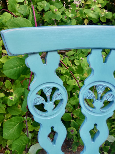 Custom order for Sarah Turnbull painted turquoise vintage dining chair