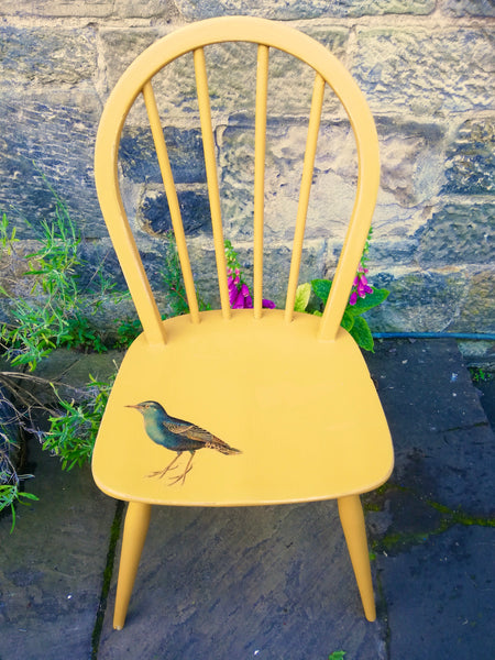 Custom order for Beth Anderson painted mustard yellow chair