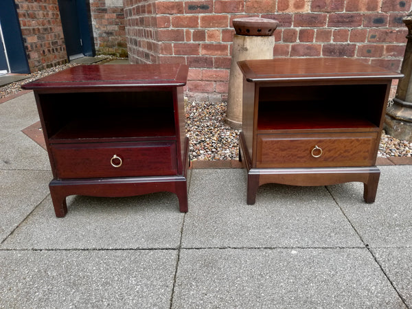 Pair of Vintage Stag Minstrel bedside cabinets available for painting