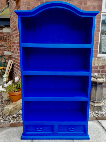 Commission for Nicola painted bookcase
