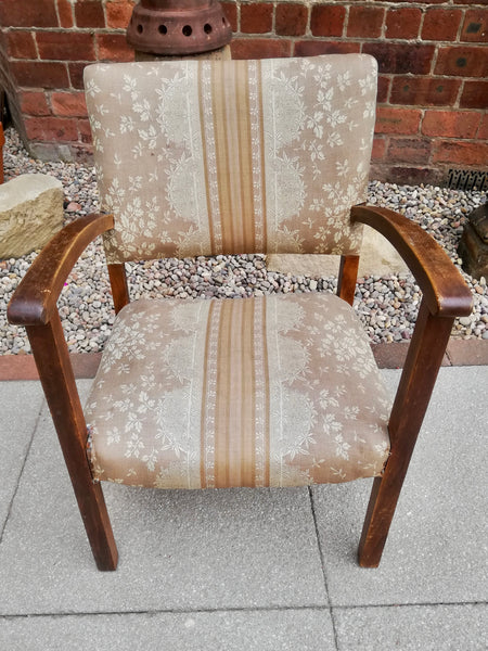 Vintage arm chair available for reupholstery and painting your choice of colour