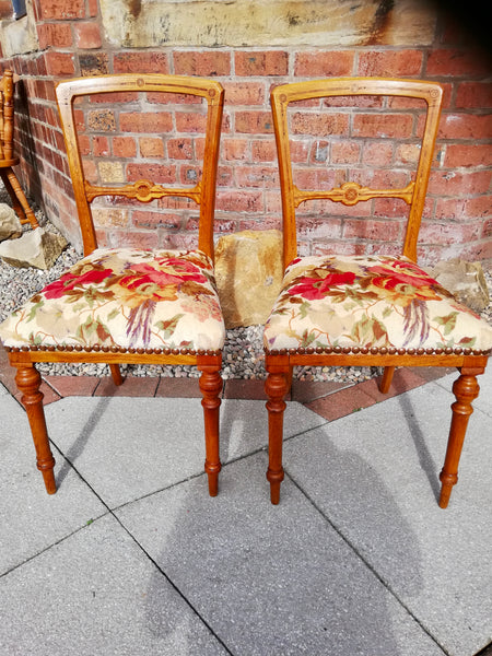 Pair of refurbished bedroom chairs will sell separately