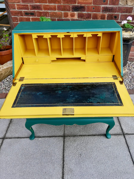 Vintage writing bureau available for  painting your choice of colour