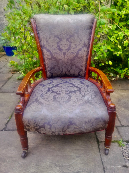 Vintage armchair  available for reupholstery and painting your choice of colour