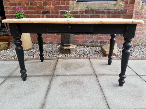 Reserved for Elsa Vintage pine 5ft dining table available for painting