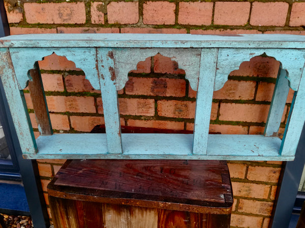 Stunning antique wall shelf with original paintwork and lovely patina