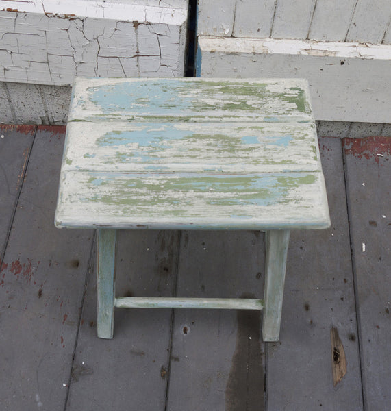 Little primitive vintage step stool in chippy shabby chic miss mustard seed milk paint
